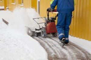 Removing snow from commercial property